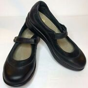 Sas Women Step Out Mary Janes 7 M Black Leather Comfort Shoes K8969485 Walk Easy