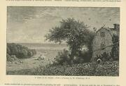 Antique Home By The Seaside Woman Garden Farm Hay W. Whittredge Small Art Print