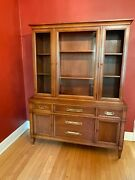 Drexel Trentino Midcentury Dining Room Set --table Chairs China Cabinet Hutch