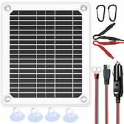 12v Portable Solar Battery Charger And Maintainer - Solar Panel-solar Car 5w