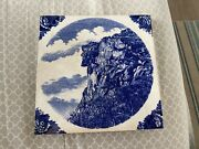 Antique Wedgwood Ceramic Tile Old Man Of The Mountain