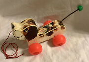 Vintage 1965 Fisher Price Little Snoopy Pull Toy Dog 2034 Wobbly Pull Toy Gift