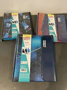 Trapper Keeper Binder Retro 80and039sstyle Portfolio Folder Lot Of 3 Different Mead