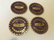 Lowriderhydraulicswire Wheel Knock Off Purple And Gold Caprice Chip 4pcs