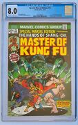 Special Marvel Edition 15 Master Of Kung Fu Cgc 8.0 1st App Of Shang-chi Comics