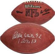 Reggie White Green Bay Packers Autographed Football With 92 Inscription