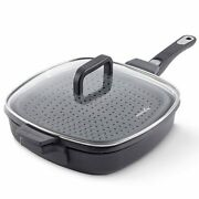 Pampered Chef Nonstick Saute And Steam Pan W/removable Handle - New Fall Product