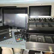 Restaurant Manager Pos System With Cc Readers Printers Register Extra Drawer