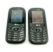 Lot Of Two Lg Cosmos 3 Vn251s Black Verizon Cellular Phone Parts Only
