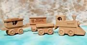 Vtg Union Pacific Railroad Wood Train Toy, Set Of 4 Cars Collectible