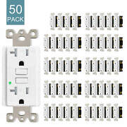 50packs 20amp Gfci Gfi Safety Outlet Receptacle Tamper Resistant Wr W/wall Plate