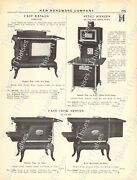 1920s Antique Hardware Ad Clermont Hot Blast Heaters-st. Clair And Oakland Ranges