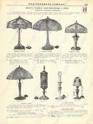 1920s Antique Hardware Ad Peerless Metal Table Lamps-coleman Gasoline Lamps