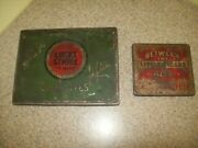 Vintage Tobacco Tins Lucky Strike And Between The Little Cigar Acts Lot Of 2