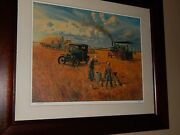 Steam Tractor Farming Print. Mort Kunsler 45 Years Old, Superb Cond And Signed