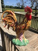 Ceramic Large Chicken Rooster Figurines