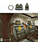 Official Liverpool Fc Car Seat Covers Ltd Edition Front And Rear And Steering Wheel