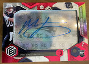 2021 Panini Elements Mac Jones Red Neon Signs Rookie On Card Auto Numbered 3/10