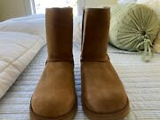 Ugg Boots Size 5 New. Light Brown Suede With Uggpure Wool Lining. 7 3/4 Tall
