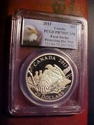 2013 Canada Silver B Eagle 20 Protecting Her Nest First Strike Pcgs Pr 70 Dcam