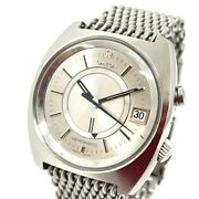 Omega 166.072 Antique Date Seamaster Memomatic Automatic Wristwatch Ss Silver