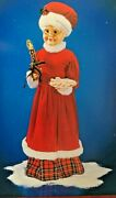 Rare New 28 Animated Musical Mrs. Claus Plaid Dress Telco Style Motionette