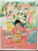 Bernadette Robidet Original Acrylic On Board Mexican People Painting