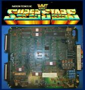 Arcadecoin Operated Amusement Technos Wf Superstars Tested Working