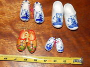 Dutch Shoes Purchased By Us Soldier During Wwii. These Are Antique. 4 Pair.