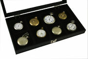 Watch Show Case Display Antique Jewelry Supply Glass Top For Pocket Watches