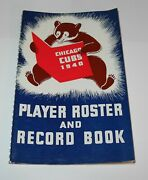 1940 Baseball Chicago Cubs Player Roster Program Record Book Front Office Use