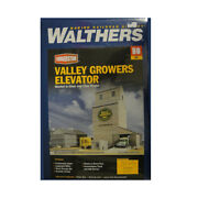 New Walthers Valley Growers Steel Grain Elevator Kit Ho Scale Train Free Us Ship