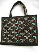 Thai Country Trim Bible, Book Cover Carrier Cross Stitched, Handcrafted