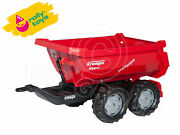 Rolly Toys - Large Krampe Half Pipe Tipping Trailer - Twin Axle Farm Trailer