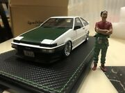 1/18 Ignition Toyota Trueno Ae86 Tk-street Ver.1 With Figure Limited Rare