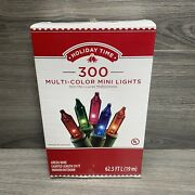 Holiday Time 300 Multi-color Mini Lights Indoor/outdoor 62.5 Feet