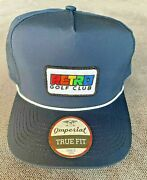 Retro Golf Club Hat Imperial Tour Performance Navy Rope Persimmon Blade