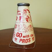 Vintage Rare 1960's Nfl Football Megaphone And Chain