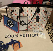 Louis Vuitton Game On Neverfull M57462 White Limited Edition 100 Authentic
