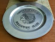 Vintage Indian Valley Country Club Telford Pa Wilton Pewter Columbia Pa Plate