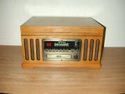 Detrola Km837 Wooden Record Player Cd Am Fm And Cassette 4 In 1 Music Center