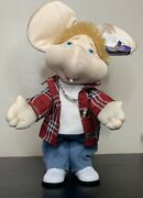 Vtg Topo Gigio Large 14 Toy Doll Figure Plush Sings In Spanish Does Not Dance