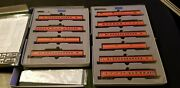 Kato N Southern Pacific / Daylight 10 Car Smooth Side Passenger 106 019 106 029