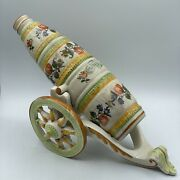 Vintage Banfi Products Italian Ceramic Wine Decanter Cannon Bottle With Stand