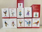 Hallmark Twelve 12 Days Of Christmas From 2011 To 2021 - 11 Ornaments Series Set