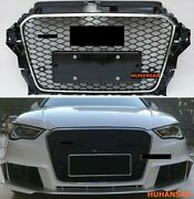 For Audi A3 S3 8v 2013-2016 Rs3 Style Front Bumper Grill Black Honeycomb Grille