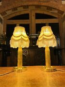 Pair Of Vintage Brass Artillery Shell Casings As Table Lamps Military Lamp