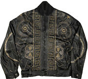 Rare Vintage Gianni Versace 1992 Ss Studded Leather Motorcycle Jacket