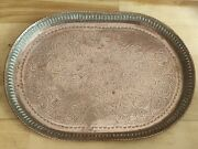 Antique Arts And Crafts Movement Copper Tray