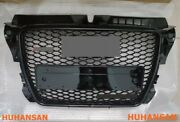 For 09-12 Audi A3/s3 8p Front Mesh Grille Honeycomb Grill Rs3 Style Gloss Black